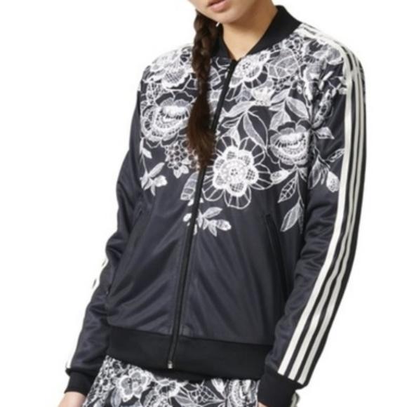 717846379fc adidas Jackets   Blazers - Adidas Superstar Farm Florido floral track jacket
